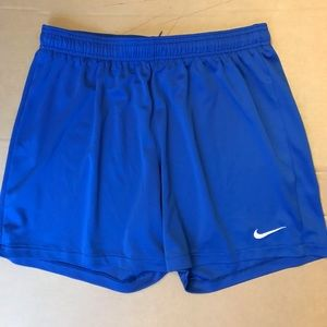 Women's Nike Blue Dry Fit Athletic Shorts